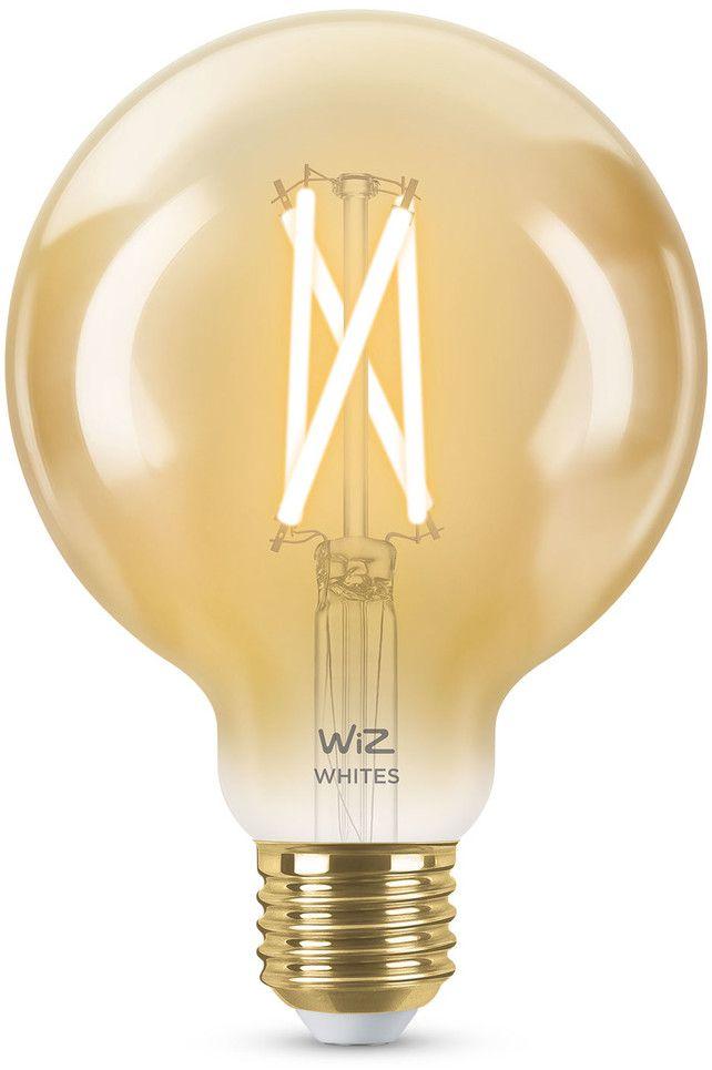 WiZ Filament Amber Smart LED Lamp Glob E27 50W - Glob (G120)