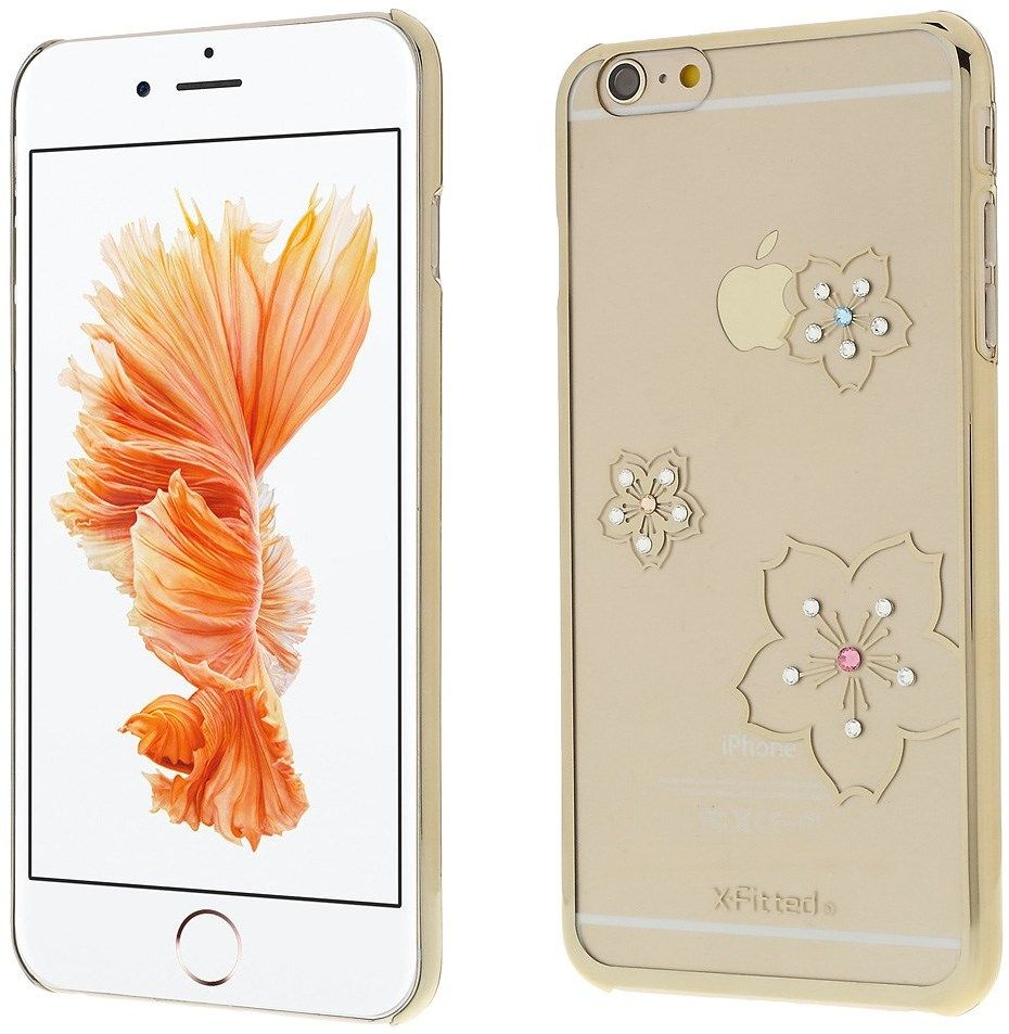 X-Fitted Swarovski Blossom (iPhone 6(S) Plus) - Silver