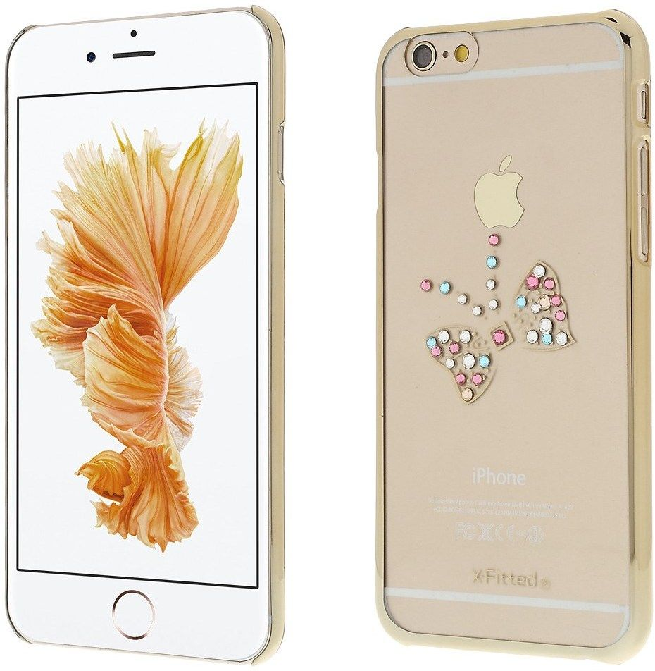 X-Fitted Swarovski Butterfly (iPhone 6/6S) - Guld