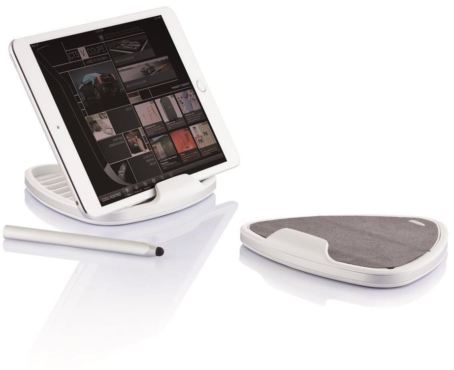 XD Design Alp Stand with Touchpen (iPad) - Vit/rosa
