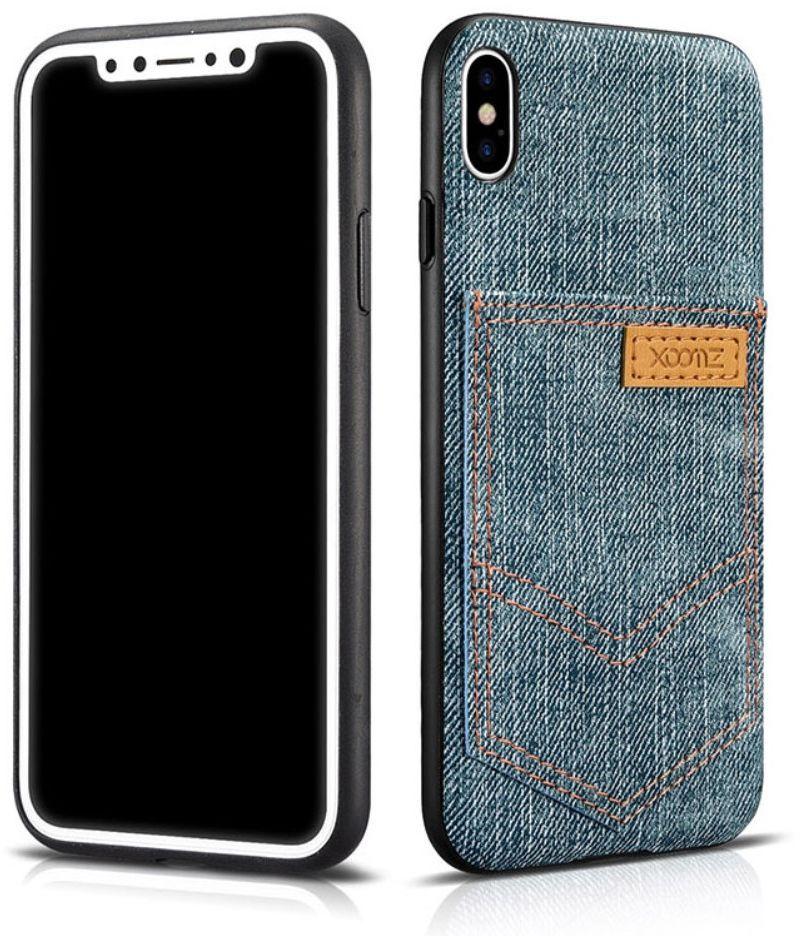 premium selection c0e9d 88dc0 Xoomz Jeans Cover (iPhone X Xs) - ljusblå