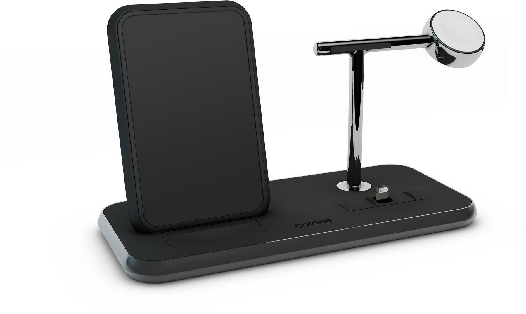 Zens Stand + Dock + Watch Wireless Charger  - Svart