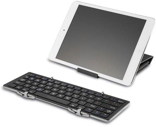 Deltaco Bluetooth Tastatur med Deksel for iPad 9,7 Svart