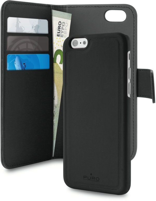 Puro Wallet Detachable 2 in 1 (iPhone 8 7 Plus) - iPhonebutiken.se edfb839119ab9
